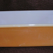 Fire King Copper Tint Milk Glass 1 Qt. Loaf Pan
