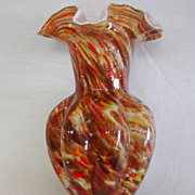 Fenton Vasa Murrhina Cased Art Glass Vase