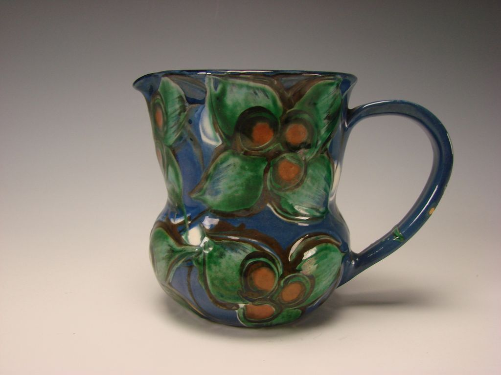 Antique Art Nouveau HAK Kahler Danish Pottery Mug Pitcher Jug Fine Modern