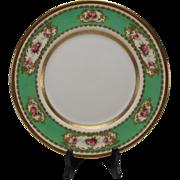 "Antique Royal Doulton English China Porcelain Elegant Raised Gilt Hand Painted Dinner Plate 10"""