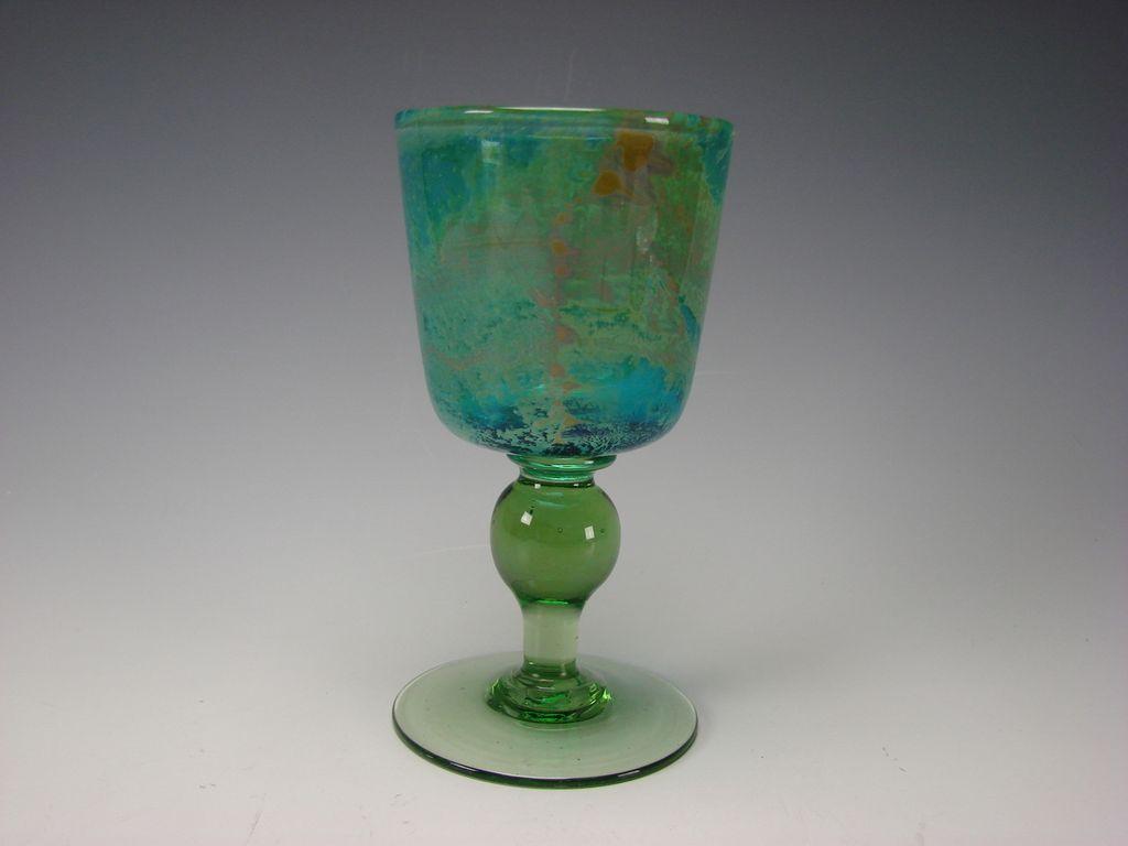 Vintage Signed Mdina Dobson Wine Glass Stem Goblet Fine