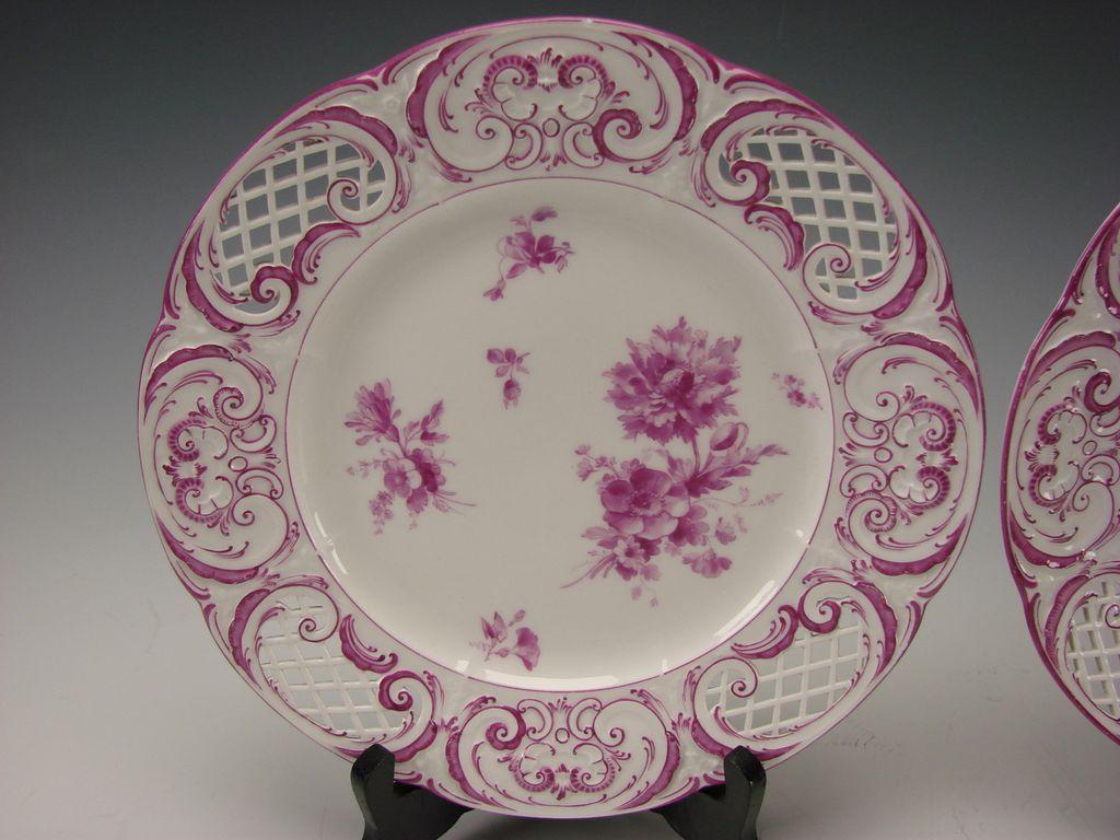 antique kpm german porcelain porzellan reticulated hand. Black Bedroom Furniture Sets. Home Design Ideas