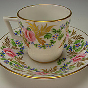 Antique Stevenson and Hancock Derby English China Porcelain Cup Saucer