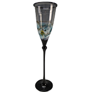 Vintage Bimini Lampwork Glass Tall Wine Stem