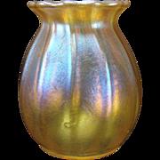 Antique Steuben Carder Iridescent Aurene Miniature Glass Vase