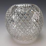 Stellar Antique Brilliant American Glass Rose Bowl