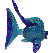Venetian/Murano Art Glass Sunfish Sculpture Figurine LARGE