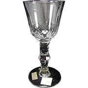 Antique c1800 Irish English Waterford Cut Stem Flint Wine Glass