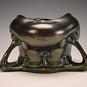 Art Nouveau Iridescent Austrian Heliosine Ware Pottery Vase