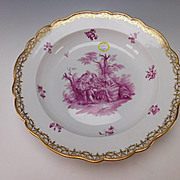 Huge Meissen Porcelain 19c Hand Painted China Vegetable Serving Bowl