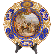 BEST Reticulated Sevres Porcelain Hand Painted Plate by Munchen Malorei Hannes & Wieninger