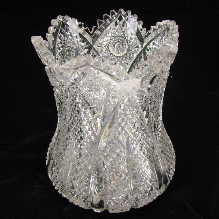 Hawkes Aberdeen American Brilliant Cut Glass Vase RARE