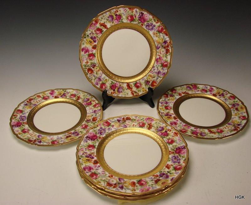 BEST Royal Doulton Hand Painted Elegant FLOWER Dinner Plates