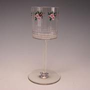 Stellar Secessionist Bohemian Meyrs Neff Enamel Wine Glass c1905