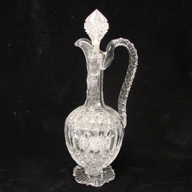Antique French Baccarat Cut Glass Crystal Decanter