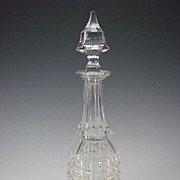 Antique Cut Glass Bottle American Brilliant or French