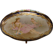 Art Nouveau French Limoges Porcelain Jewelry Trinket Casket Box