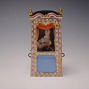 Antique Meissen Lady Pug Figural Group Figurine Sedan German Porcelain Porzellan