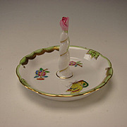 RARE Herend China Porcelain Queen Victoria Ring Tree Dish Stand