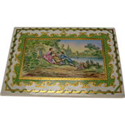 Great Victorian Limoges French Hand Painted Porcelain Plaque Plate