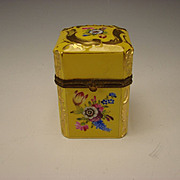 Antique Dresden German Porcelain Hand Painted Gilt Box era