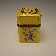 Antique Dresden German Porcelain Hand Painted Gilt Box era