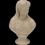 Antique Victorian English Parian Bust Figure Figurine Robert Cooke Staffordshire