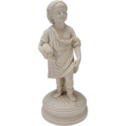 Antique Copeland English Parian Summer Figure Figurine