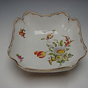 Antique Meissen German Porcelain LARGE Hand Painted Bowl 19c
