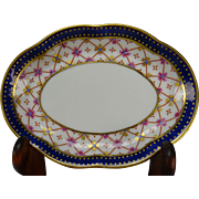 Antique Italian Ginori Porcelain China Nut Plate Bowl Side Dish Signed