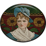 Victorian Minton Portrait Hand Painted Pottery Charger Plaque