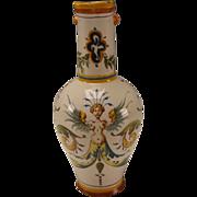 Antique Ginori Italian Hand Painted Pottery Pitcher 19c Renaissance Style