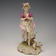 Antique Dressel Kister & Cie German Porcelain Figural Group Figurine c1900