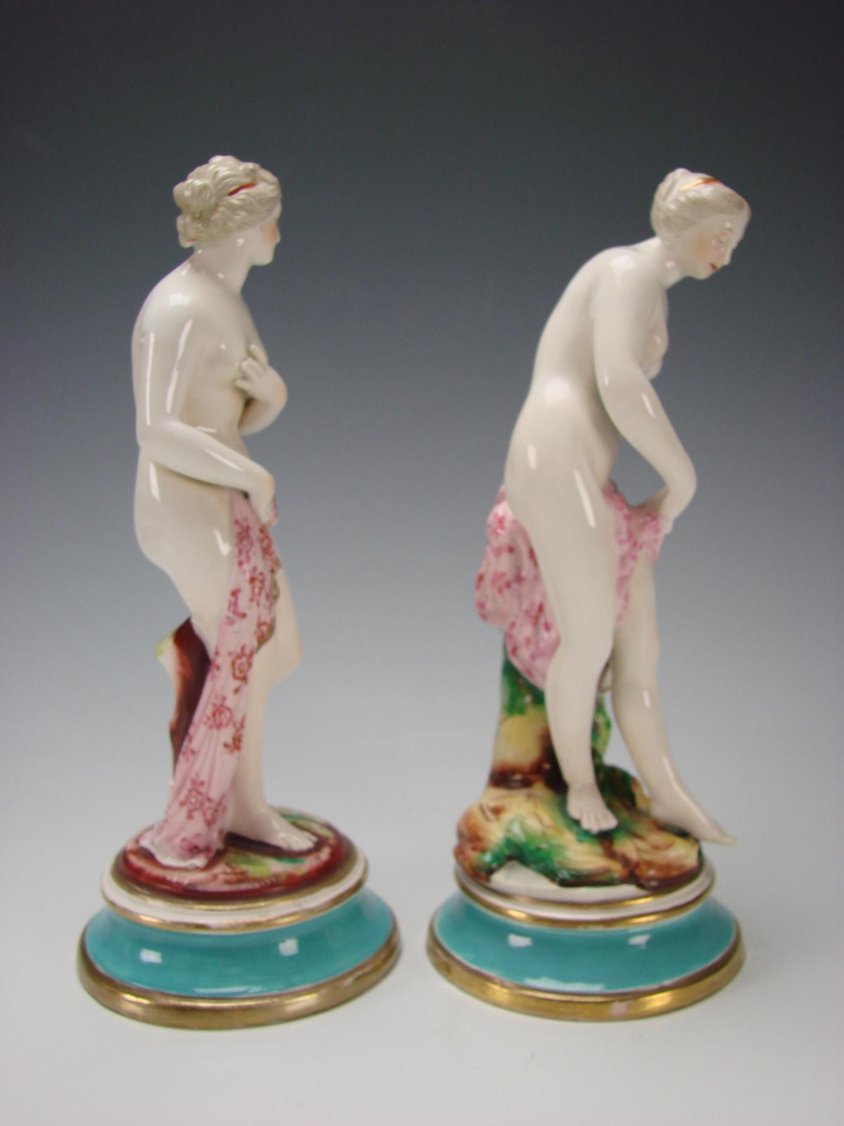 Antique English Porcelain Nude Lady Figurines Statues C1850 From Hideandgokeep On Ruby -1418