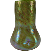 Antique Iridescent Rindskopf Bohemian Iridescent Glass Vase