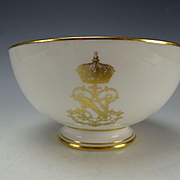 Antique Sevres Napoleon III Porcelain China Bowl c1867 Signed Dated