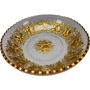 Huge Antique Moser or Lobmeyr Parcel Gilt Bowl