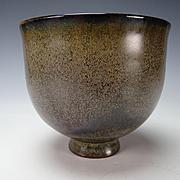 Vintage Fine Mid Century Modern Scheier Footed Pottery Vase
