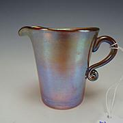 Antique Kew Blas Iridescent Glass Creamer