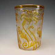 Antique Webb English Lily Cameo Glass Vase Signed c1900