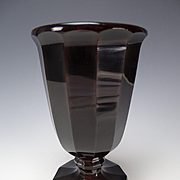 Great Antique c1830's Egermann Lithyalin Agate Stone Glass Vase