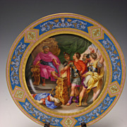 Antique Austrian Imperial Porcelain Royal Vienna Hand Painted Portrait Plate