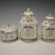 Antique Royal Vienna Imperial Porcelain China Set Pitcher Creamer Sugar Box