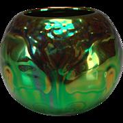 Vintage Iridescent Zsolnay Jugendstil Art Nouveau Eosin Glaze Pot Vase