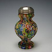 Vintage Fratelli Toso Murano Millefiori Caned Glass Muffineer Sugar Shaker