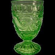 Antique Baccarat French Vaseline Uranium Wine Glass Stem 19c