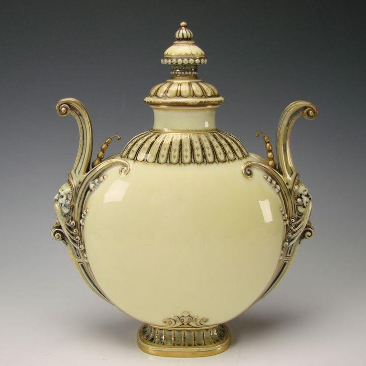 Fantastic Authentic Antique Sevres French Porcelain Figural Bust Urn Vase c1886