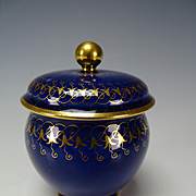 Antique Sevres Porcelain Lidded Jar Pot de Creme