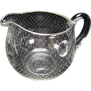 Antique Boston Sandwich Snowflake Glass Creamer