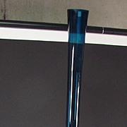 "Huge 38"" SEDA Tall Peacock Blue Glass Vase Modernist Eames era"